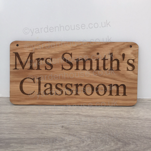 Teacher classroom hanging plaque